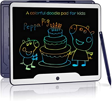 Color : Black, Size : 15 inches HANXIAODONG Electronic Doodle Pads Drawing Board 15 Inches High-Bright Thick Handwriting Tablet LCD Writing Board Meeting Office Childrens Teaching Blackboard