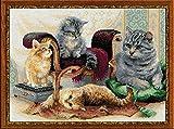 RIOLIS 1327 - Feline Family - 15.75