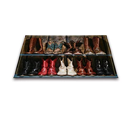 Amazon Com Lb Cowboy Boots Rustic Wood Plank Decor Indoor Rugs