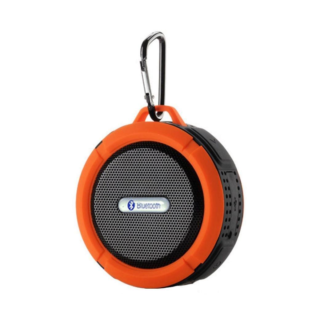 Creazy® Military Outdoor Sport Portable Waterproof Shockproof Wireless Bluetooth Speaker (Orange)