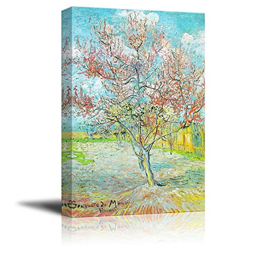 Flowering Peach TreesFlowering Orchards by Vincent Van Gogh Print Famous Oil Painting Reproduction