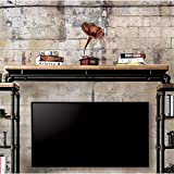 Furniture of America Jarod Industrial TV Bridge in Antique Black