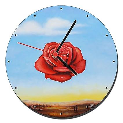MasTazas Dali Rosa Meditativa Reloj de Pared Wall Clock 20cm