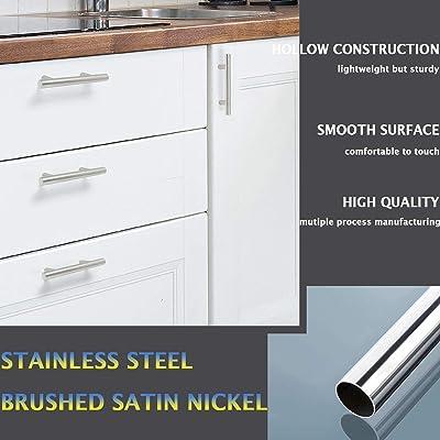 5 Length 20 Pack Black Cabinet Pulls Diyzon Modern Style Stainless Steel Kitchen Cabinet Hardware 3 Hole Center Kitchen Cabinet Handles Hardware Tools Home Improvement Urbytus Com