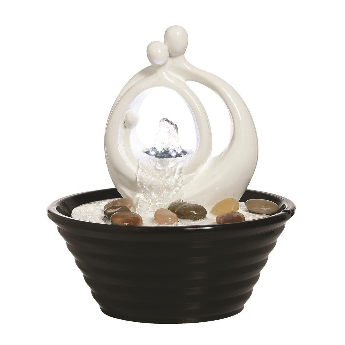 Avellino Tranquil Couple Lit Indoor Table Top Water Feature Ideal for Feng Shui UK Water Features