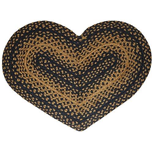 (CWI Gifts Braided Ebony Heart Rug, 20 x 30)