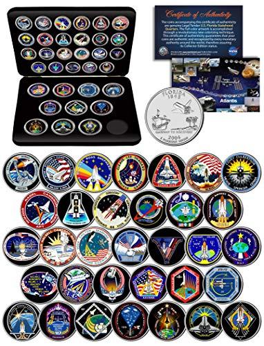 (SPACE SHUTTLE ATLANTIS MISSION NASA Florida Statehood Quarters 33-Coin Set w/Box)