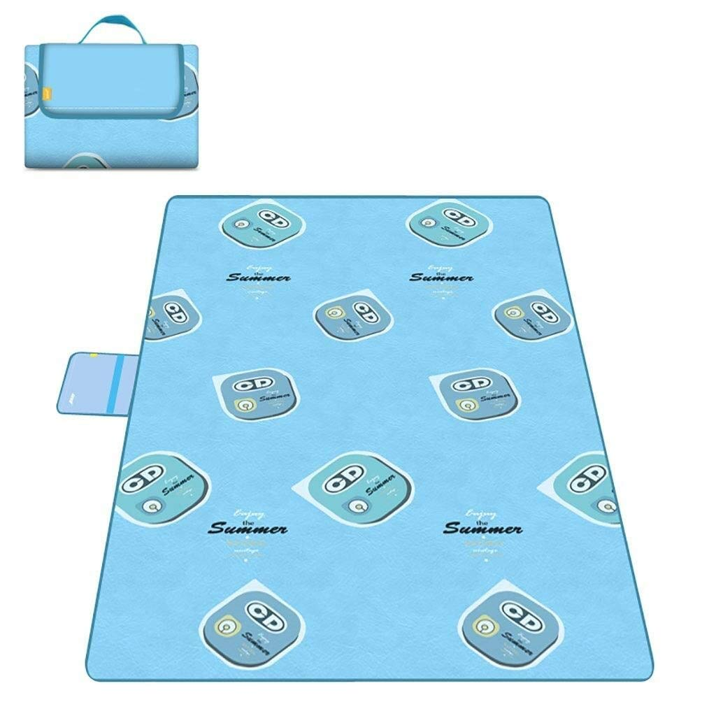 ZKKWLL Picnic Blanket Large Outdoor Picnic Blanket Foldable Beach mat Picnic Blanket Waterproof sandproof Outdoor Picnic Carpet mat with Handle Camping Picnic mat (Color : F) by ZKKWLL