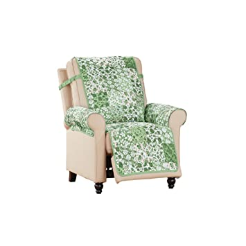 Fine Cottage Floral Pattern Reversible Furniture Protector Sage Green Recliner Gmtry Best Dining Table And Chair Ideas Images Gmtryco