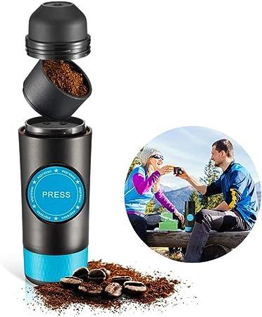 MSQL Cafetera Espresso portátil de Mano, cafetera Personal Recargable por USB, Compatible con cápsulas y café en Polvo, para Acampar, Viajes a casa y a la Oficina: Amazon.es: Hogar