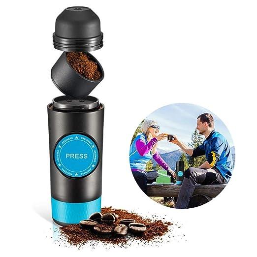 MSQL Cafetera Espresso portátil de Mano, cafetera Personal ...