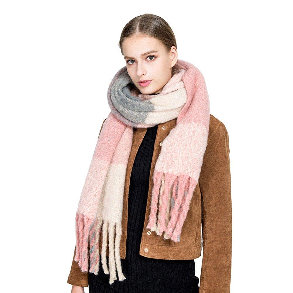 Women Long Scarf Lady Winter Knitting Pashmina Long Soft Tassel Shawl Wrap Scarves
