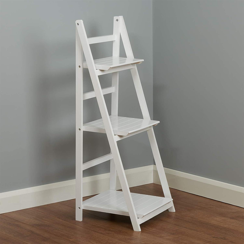 Hartleys Estantería Plegable de 3 baldas Tipo Escalera Blanca: Amazon.es: Hogar