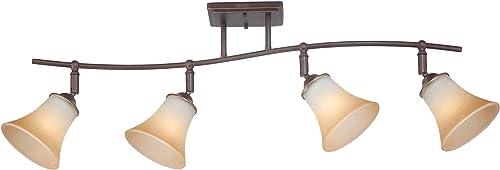 Quoizel DH1404PN Duchess Adjustable Track Kits Lighting, 4-Light, 400 Watts, Palladian Bronze 13 H x 37 W
