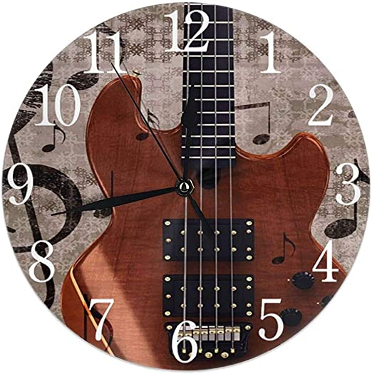 Kncsru Resumen Grunge Retro Musical con Guitarra Reloj de Pared ...