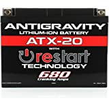 Antigravity ATX20-RS Lithium RE-START Battery, Replace YTX20, YTX15, others