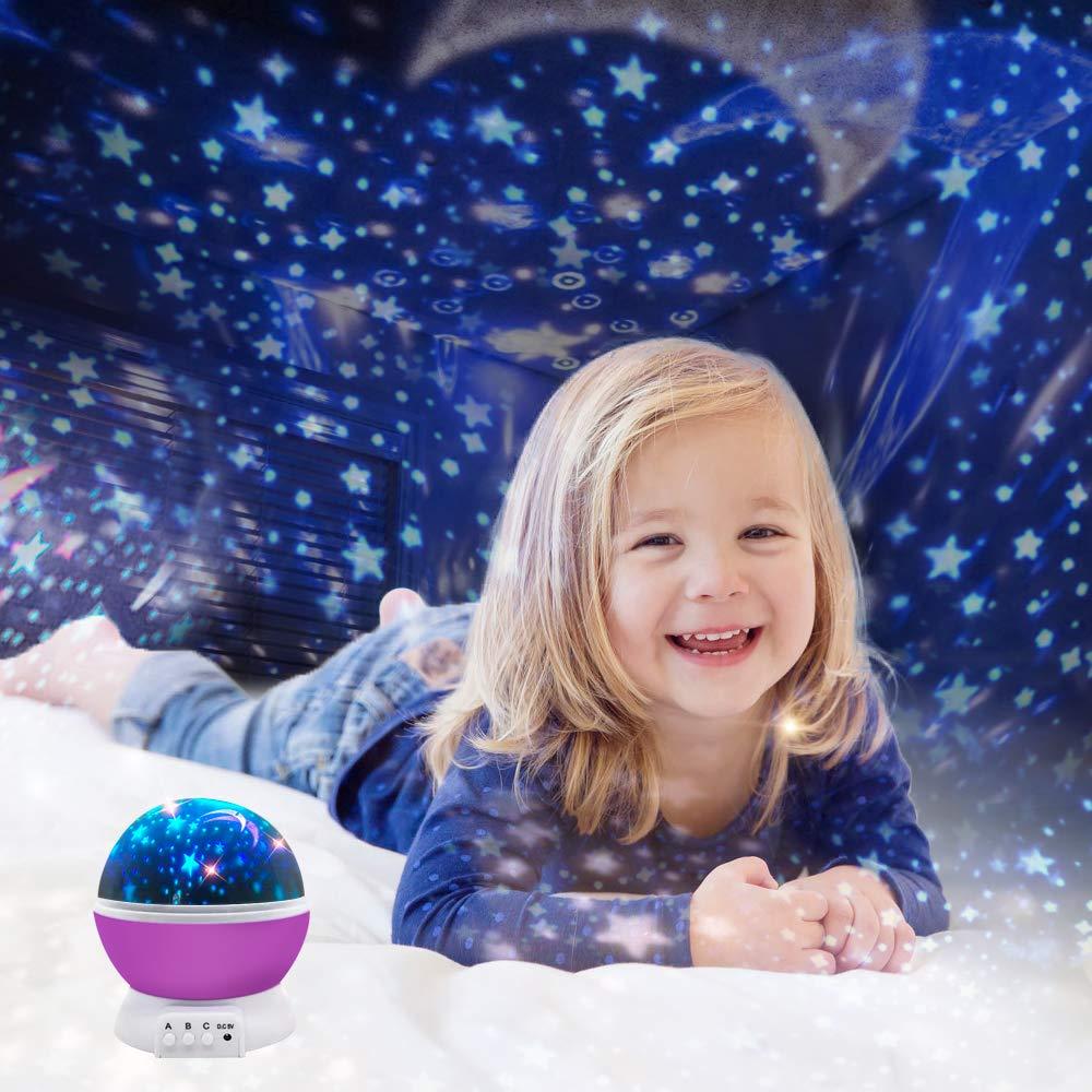 Amazon.com: ZJQY - Proyector de luz nocturna estrellada con ...