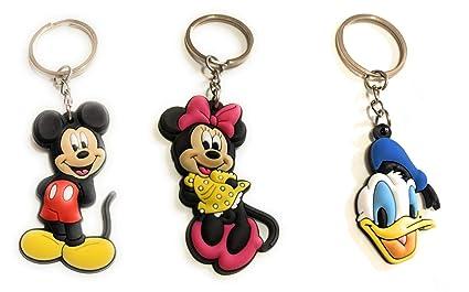 SuperGifts 3 - Llavero clásico de Mickey + Minnie Mouse y ...