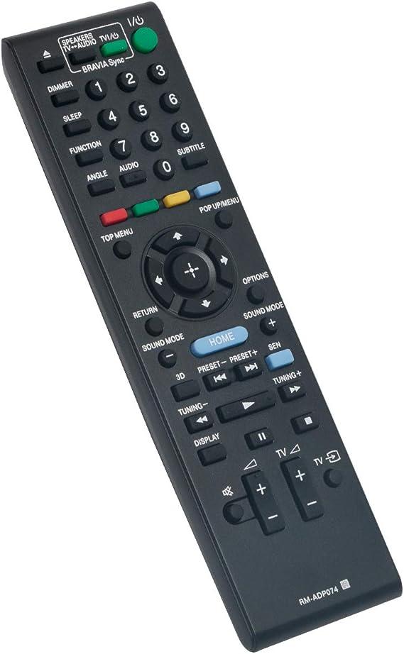 RM-ADP074 Replacement Remote Control for Sony BDV-E690 BDV-E490 BDV-E290 BDVE190