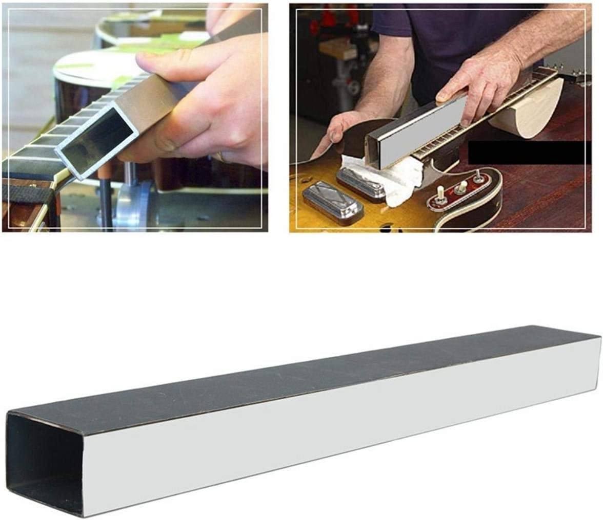 Rtyrytiiu Accesorios para Instrumentos Musicales Herramienta Luthier Cuello Fret nivelación de Lijado Aluminio Manga for Guitarra Partes de Guitarra