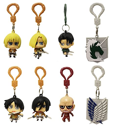Attack On Titan Figure Hangers Complete Set of 8
