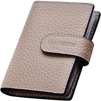 Teemzone Porta carte credito-Protezione RFID tessere portafoglio uomo donna porta tessere bancomat con 26 scomparti per carte