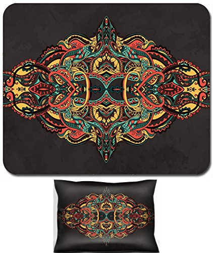 Luxlady Mouse Wrist Rest and Small Mousepad Set, 2pc Wrist Support design IMAGE: 42235535 Hand drawn greeting card ornament illustration concept Lace pattern design Vector decorative banner of card