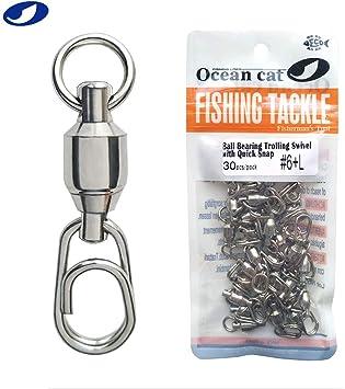 50Pcs Fishing Fast Swivel Ball Bearing Pin Coastlock Snap Fishhooks Connector