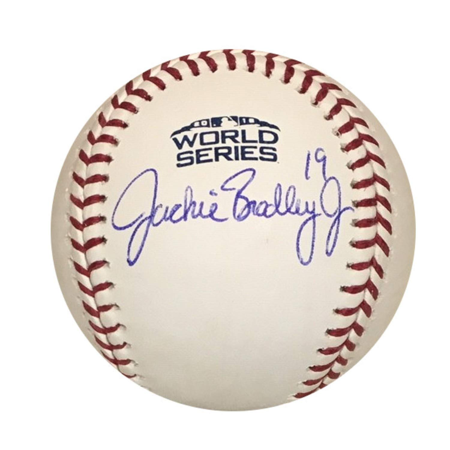 Jackie Bradley Jr Boston Red Sox Autographed 2018 World Series Signed Baseball PSA DNA COA With UV Display Case Powers Collectibles