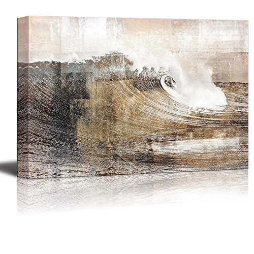 Abstract Huge Wave Composition Wall Decor ation