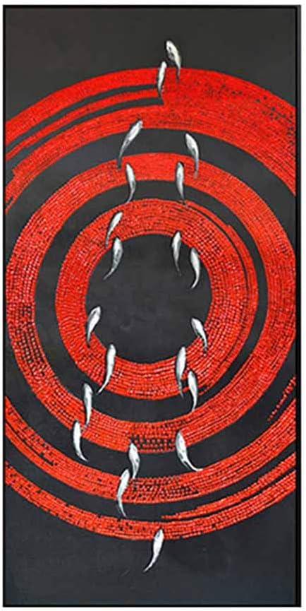 北欧モダンミニマリストスタイル装飾油絵抽象abstractパターン油絵黒PS額縁インテリアポーチ壁アート変形しにくいキャンバスはフェードしにくい