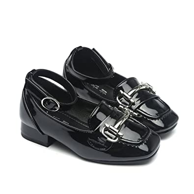 Amazon T July School Oxford Shiny Dress Shoes With Ankle Strap