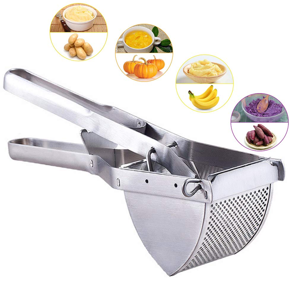 Potato Ricer Masher, Heavy Duty Commercial Potato Ricer and Masher, Stainless Steel Potato Ricer for Baby Food Cooked Carrot by CHEE MONG