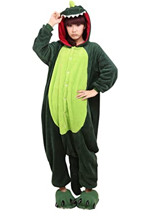 4f4632b2b9 Image Unavailable. Image not available for. Colour: Super9COS Dinosaur  Kigurumi Pajamas Adult Anime Cosplay Halloween Costume ...