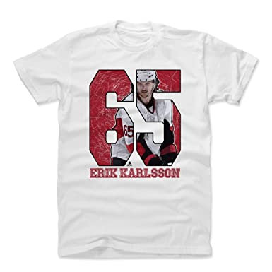 huge discount e129e e7cc5 500 LEVEL Erik Karlsson Cotton Shirt Large White - Ottawa ...