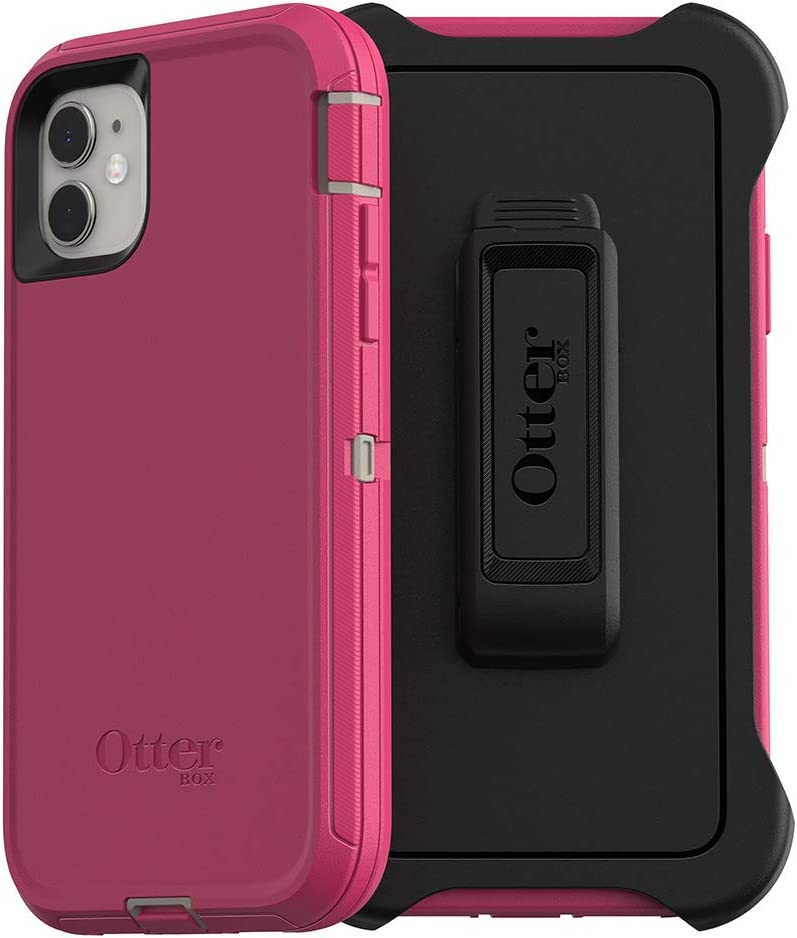 OtterBox DEFENDER SERIES SCREENLESS EDITION Case for iPhone 11 - LOVE BUG (Raspberry Pink)