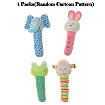 Baby & Toddler Toys Baby Hand Rattles Toy Cute Cartoon Bell Rattle Plush Doll Soft Animals Bb Bar Sound Educational Toys For Baby 0-12 Months Gifts In Short Supply