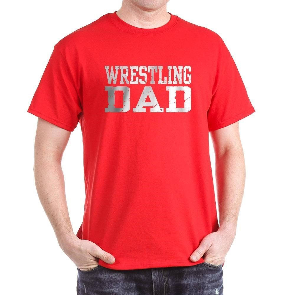 22a9c7ef Amazon.com: CafePress Wrestling Dad Classic 100% Cotton T-Shirt: Clothing