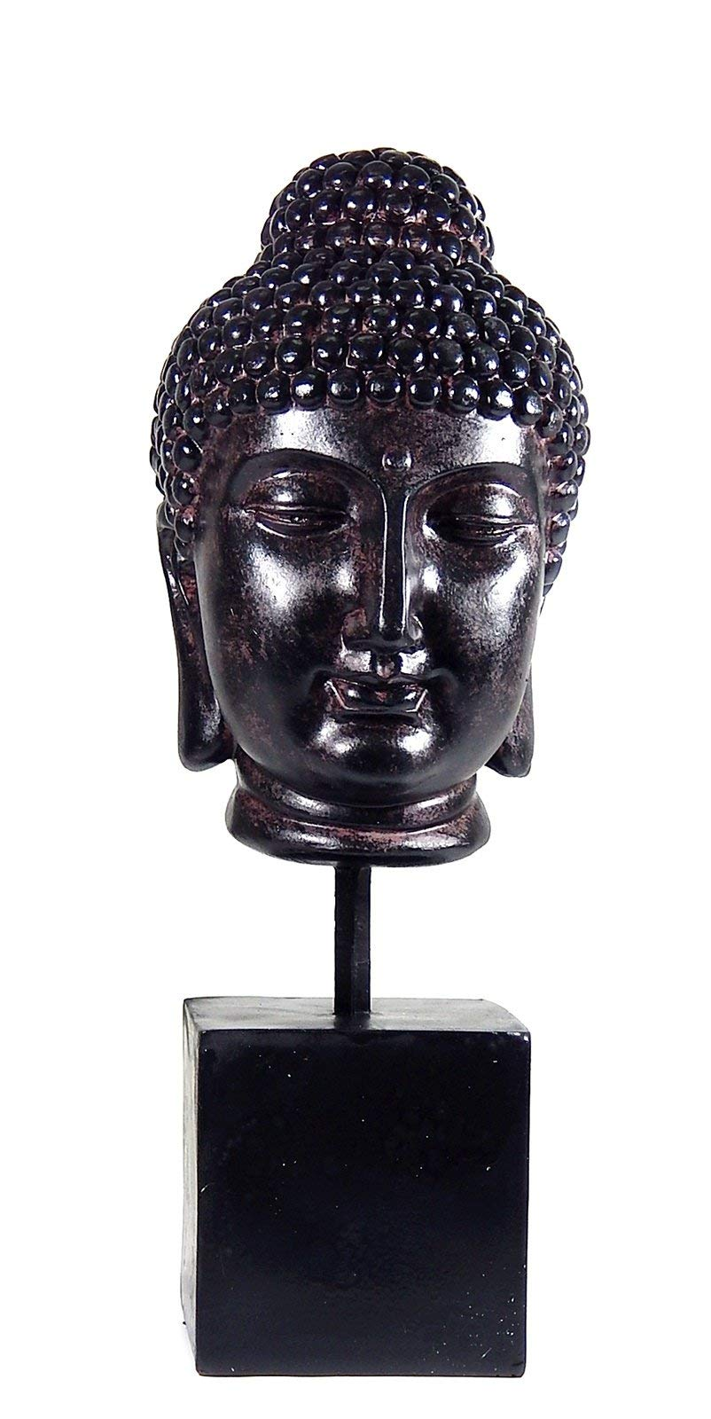 Bellaa 22623 Buddha Head Statue Bust Dhyana Mudra 14 inch by Bellaa
