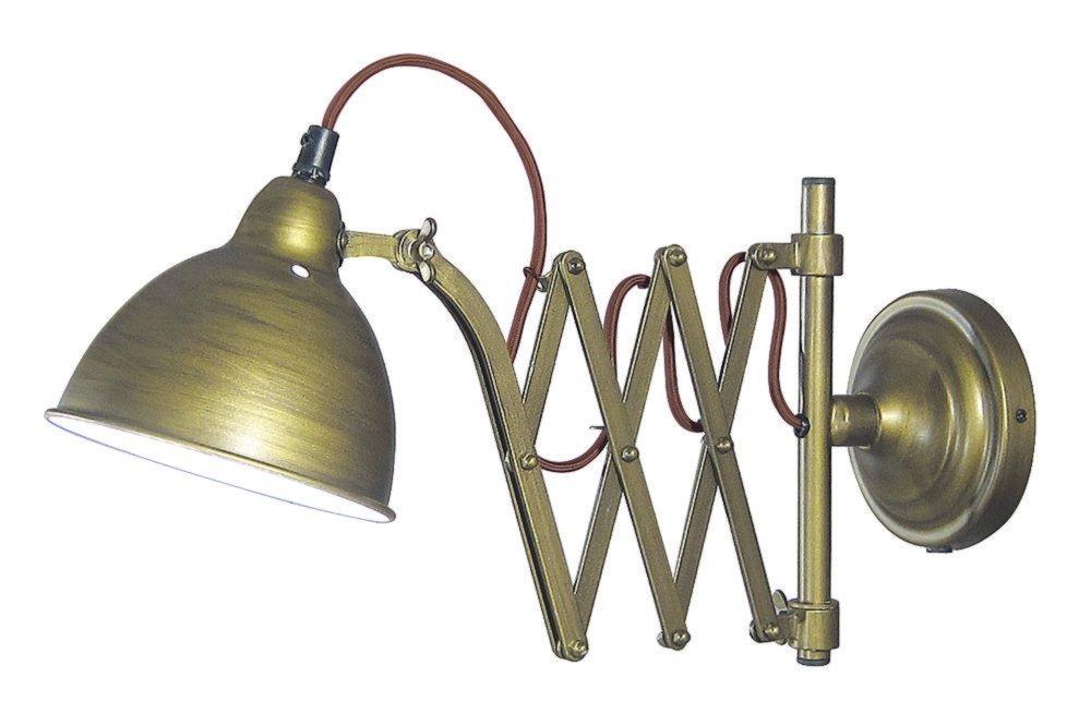 Maritime Scherenlampe, Scherenlampe, Scherenlampe, Funkraum Lampe, Wandlampe, Wand Leuchte Altmessing cb59f7