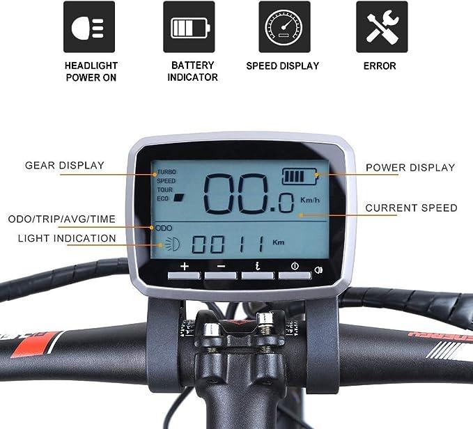 TongSheng 48V 250W Brushless Geared Conversion Mid Drive Motor eBike Kit Torque Sensor XH18 LCD Display