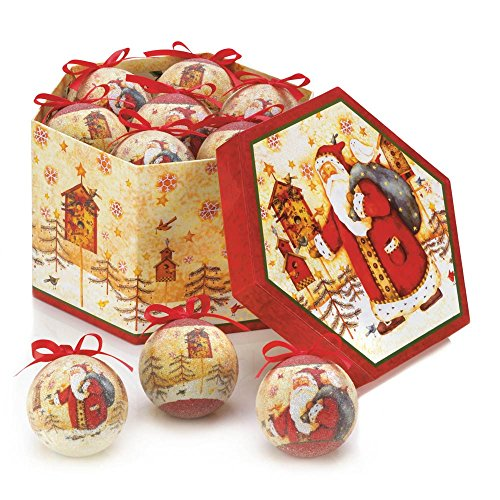 VERDUGOGIFTCO Birdhouse Santa Ornament Box Set