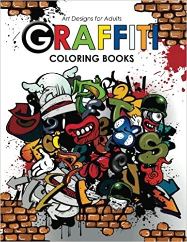 Amazon com graffiti coloring book for adults 9781542335935 georgia a dabney hipster coloring book books