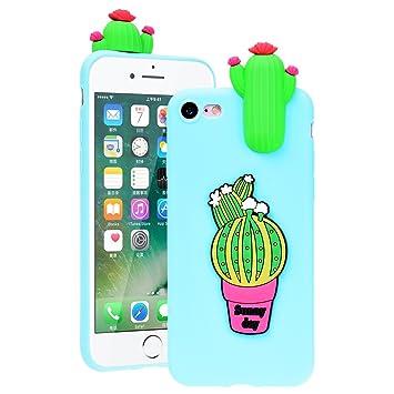 coque iphone 8 silicone cactus