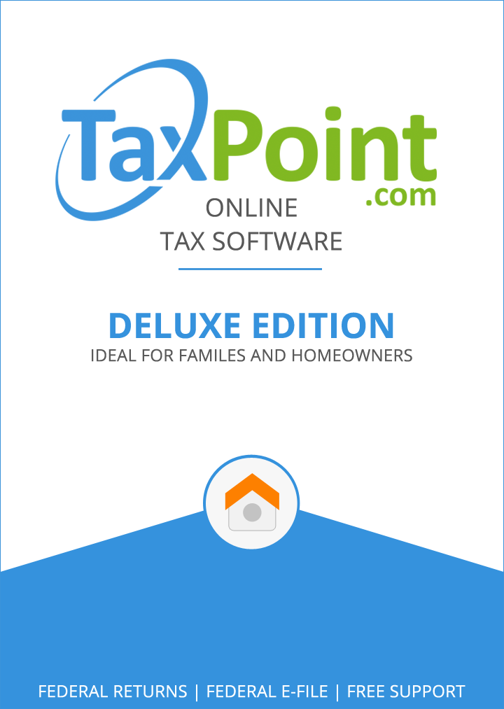 TaxPoint Deluxe 2015 Online Federal Tax Preparation Software [Online Code]