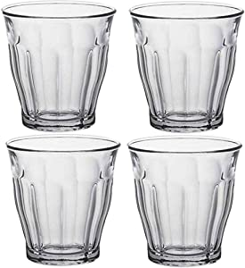 Plastic Tumbler Cups Drinking Glasses - CYKK Acrylic Tumblers Set of 4 Clear Reusable Kitchen Drinkware Dishwasher Safe Bpa Free Hard Rocks Glass Drink Wine Water Juice Cup Sets (14OZ)
