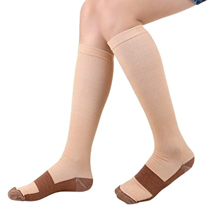 Men's Socks Soft Zip Socks Anti-fatigue Compression Socks Leg Support Medical Socks Unisex Comfortable Relief