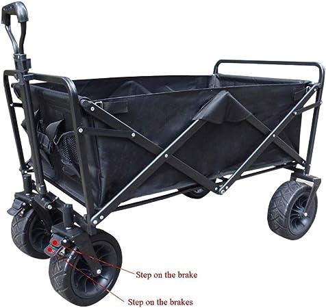Yuan carretillas Carretilla Plegable de 4 Ruedas - jardín portátil del Carro Plegable Que acampa y Carro de DIY (Color : B): Amazon.es: Hogar