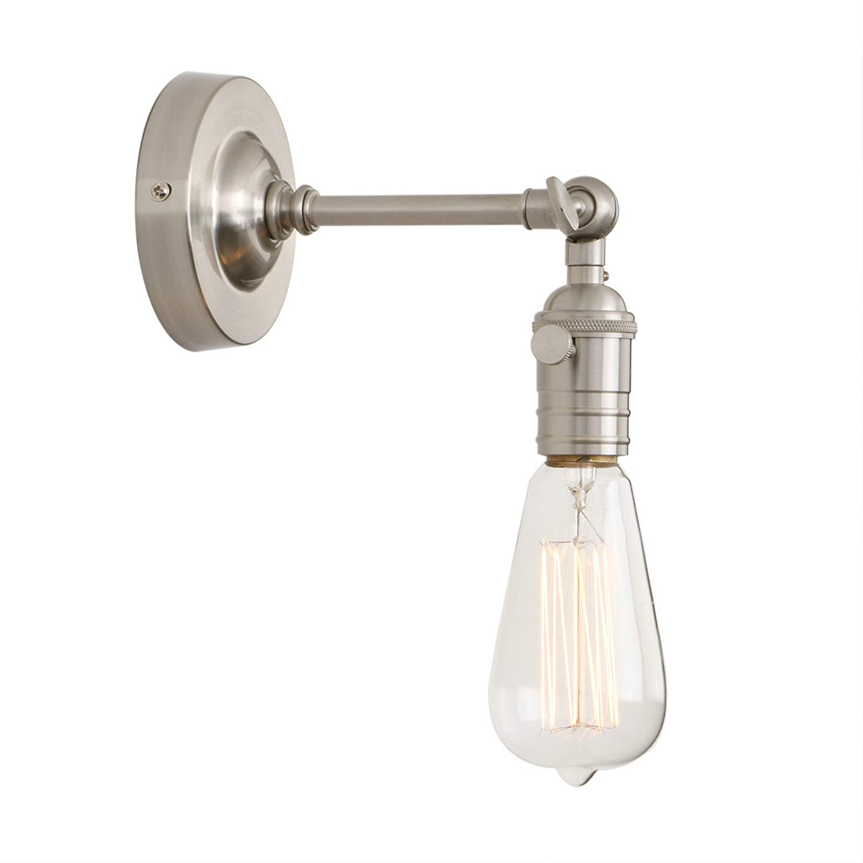 Phansthy Wandbeleuchtung Wandleuchten Vintage Industrie Loft-Wandlampen Antik Deko Design Wandbeleuchtung Kü chenwandleuchte (Chrome Farbe)