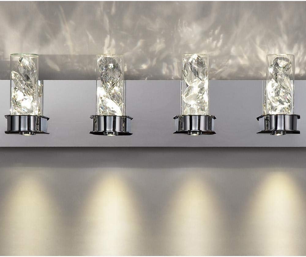 Home Decorators Collection York Collection 30-Watt Crystal Integrated LED Bath Light